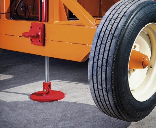 hydrauliczna stopa do zmiany pozycji transportowej w roboczą