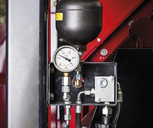 hydrauliczny system poziomowania maszyny
