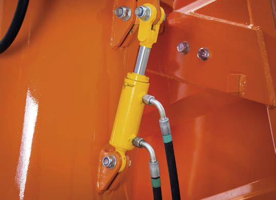 hydrauliczna blokada bezpieczeństwa mechanizmu rozkładania pzrzenośnika.