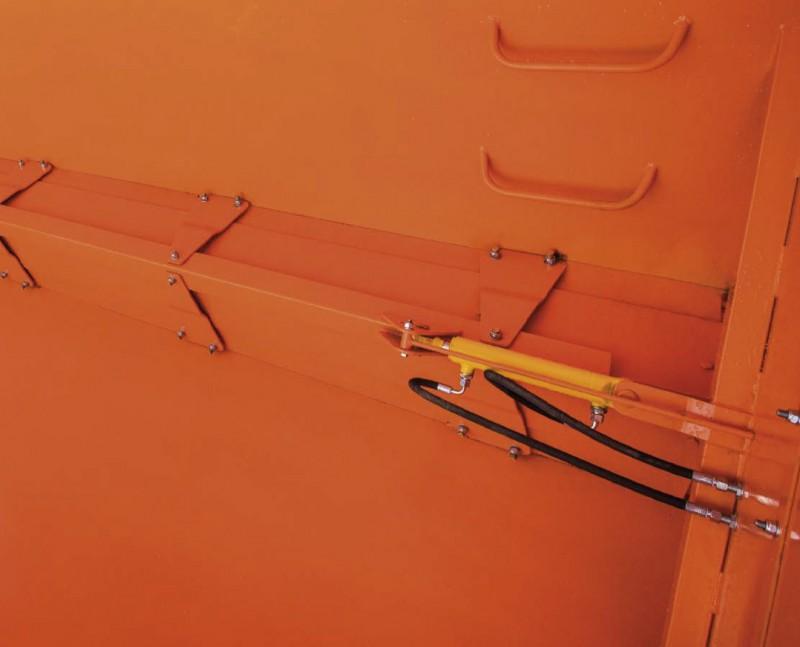 hydrauliczne przysłony ślimaka regulujące prędkość wysypu ziarna